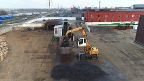 Production of scrap metal processing stock video
