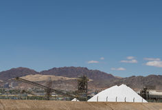 Production of sea salt from the Red Sea, Eilat, Israel Stock Images