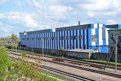 Production shop of car-building plant Stock Photos