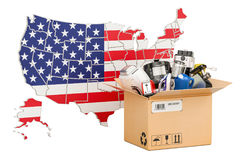 Production, shopping and delivery of household appliances   Stock Image