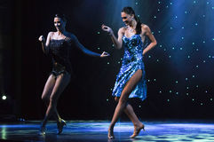 Production Show. Dance show Ballroom Forever performing onboard cruise ship Celebrity Reflection stock photo