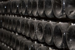 Production of sparkling wine. selective focus stock photography