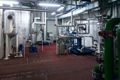 Production of specialized fats and food additives Industrial Plant stock image