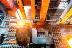 In the production of steel mills Royalty Free Stock Images