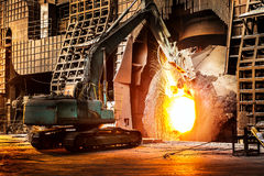 In the production of steel mills Stock Photography