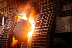 In the production of steel mills Royalty Free Stock Image