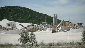 Production of stone in the quarry in Croatia.  stock video
