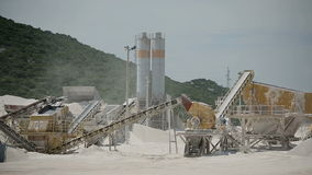Production of stone in the quarry in Croatia.  stock video footage