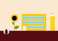 Production of sunflower oil Stock Photo