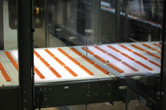 Production of sweets, technologies. Confectionery Equipment Manufacture and Repair. Sweets Technologies delivers lines for candy, toffee and wafer stick Stock Image