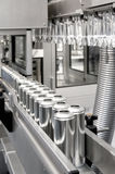 Production of tinplate cans. A Production of tinplate cans Royalty Free Stock Image