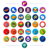 Production, tourism, tool and other web icon in flat style. travel, sports, nationality, icons in set collection. Stock Photo