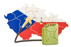 Production and trade of petrol in Czech Republic, concept. 3D   Stock Photos