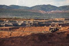 Production useful minerals. Royalty Free Stock Photo