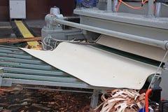 Production of veneer logs stock photos
