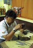 Production of Wayang Kulit Stock Image