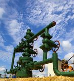 Production wellhead Royalty Free Stock Image