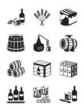 Production of whiskey and brandy. Vector illustration royalty free illustration