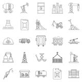 Production workers icons set, outline style. Production workers icons set. Outline set of 25 production workers vector icons for web isolated on white background Stock Photos