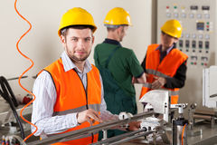 Production workers during production process Royalty Free Stock Image