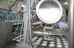 Production of yogurt Stock Images