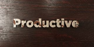Productive - grungy wooden headline on Maple  - 3D rendered royalty free stock image. This image can be used for an online website banner ad or a print Royalty Free Stock Images