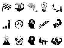 Productive at work icons. Isolated Productive at work icons from white background Stock Photo