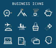 Productive at Work Icons - Blue Series Stock Images