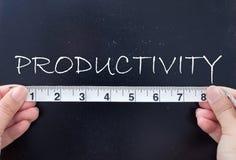 Productivité de mesure photos libres de droits