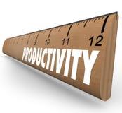 Productiviteit die Heerser het Werk Efficiencyonderwijs Learni meten Stock Foto