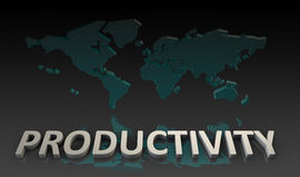 Productivity. And Global Output Worldwide in 3d Stock Photo