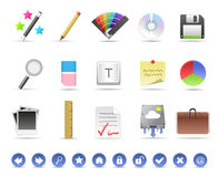 Productivity & Artistic Icon Set Stock Photos