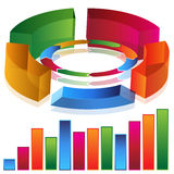 Productivity Bar Chart. An image of a 3d productivity bar chart Royalty Free Stock Photo