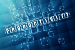 Productivity in blue glass cubes Stock Images