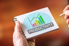 Free Productivity Concept On A Notepad Royalty Free Stock Photos - 140007858