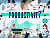 Productivity Efficiency Figures Work Flow Concept Royalty Free Stock Photography