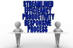 Productivity Efficiency Streamline Responsive Process Stock Photography