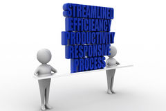 Productivity Efficiency Streamline Responsive Process Stock Image