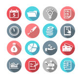 Productivity Icons Flat Design. Collection of productivity and time management icons in flat design style Stock Photos