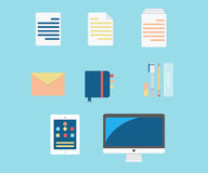 Productivity icons Royalty Free Stock Photography