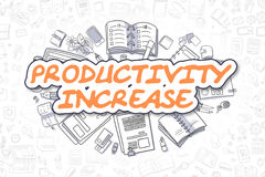Productivity Increase - Business Concept. Royalty Free Stock Photography