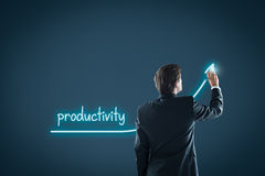Productivity increase stock photo