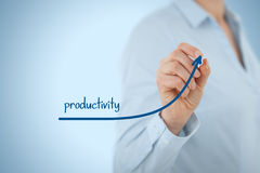 Productivity increase. Manager (businesswoman, coach, leadership) plan to increase company productivity stock photography