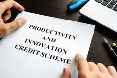 Productivity and Innovation Credit Scheme PIC. Stock Photo
