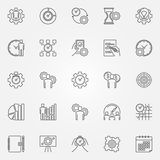 Productivity line icons set Royalty Free Stock Photos
