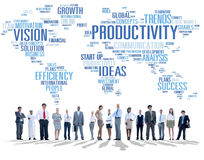 Productivity Mission Strategy Business World Vision Concept.  royalty free stock images