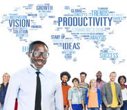 Productivity Mission Strategy Business World Vision Concept.  royalty free stock photography