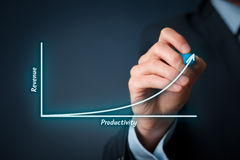 Productivity and revenue stock photography
