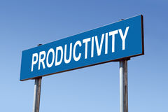 Productivity signpost Stock Photo