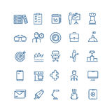 Productivity and time management vector thin line icons Royalty Free Stock Image